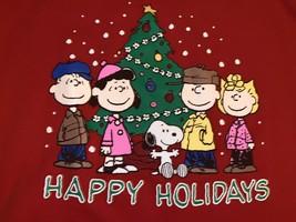 Vintage Tultex Peanuts Snoopy Holiday Xmas Season Sweatshirt Size Large NWOT image 2