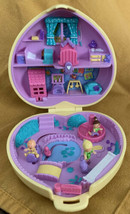 Vintage 1994 Polly Pocket Strollin' Baby Nursery Yellow Quilted Heart CO... - $48.50