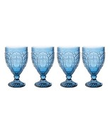 Fitz and Floyd 83-002 Trestle Collection Set of 4 Glass Goblets, 12-Ounc... - $35.46