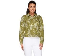 Isaac Mizrahi Fashionable Rose Jacquard Denim J... - $32.64