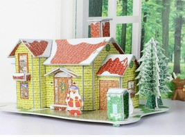 Merry Christmas Puzzle Diy 3d Money Box New Year Cartoon House Decoratio... - $11.82