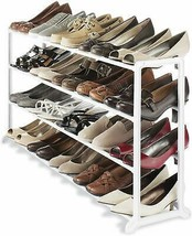 20 Pairs Footwear 4 Tier Shoes Holder Organizer Storage  Home Office Dor... - £34.79 GBP