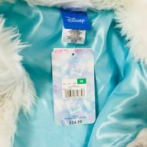 New Girls Disney Frozen Faux Fur Vest Size Medium 7 Costume Top Accent image 7