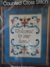 """Golden Bee Counted Cross Stitch Kit """"Welcome to Our Home"""" 12 x 16"""" New - $24.45"""