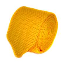 Frederick Thomas uni or jaune cravate en maille & pointus fin 8cm largeur