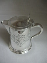 Cooper Brothers Antique Silver Plate Creamer Jug Beaded & Etch Designs 1... - $24.95