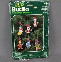 Vintage Bucilla Felt Applique Jeweled Mini Figure Kit 48786 Holiday Orna... - $14.46