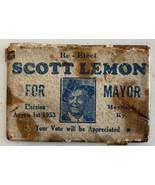 Mayfield Kentucky Political Advertising mirror from 1953 Scott Lemon for... - $46.74