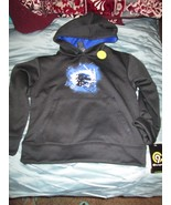 Boy's Football Graphic Tech Fleece Pullover Hoodie top size S (6-7) New - $12.50