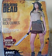 The Walking Dead Sassy Rick Grimes Adult Halloween Costume Size Large 12-14 - $19.79