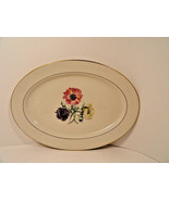 Lamberton China Wildlflower Platter 14 In Gilt Trim Mint Condition 1940-... - $14.50
