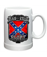 FLAG MAY FADE, BUT THE GLORY NEVER WILL-  20 OZ STONEWARE COFFEE MUG  - $22.72+