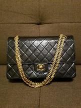 Auth CHANEL Shoulder Bag Brown Medium Matelasse Vintage Classic Flap Logo B2749 - $1,627.56