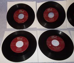 Six 45 Rpm Record Lot Hilltoppers Singing Group Dot Label 1950's  - $6.00