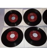 Six 45 Rpm Record Lot Hilltoppers Singing Group Dot Label 1950's  - $5.95