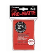 50 Ultra Pro Pro-Matte Red Deck Protector Card Sleeves Pokemon MTG ULP82650 - $5.99