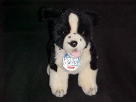 "12"" Disney Nana Plush Black White Husky Puppy Dog From Snow Dogs With Name Tag - $59.39"
