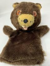 Vintage 1970s Animal Fair Brown Beaver Hand Puppet Plush Stuffed Head To... - $26.50