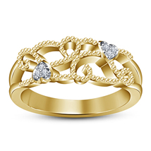 Engagement Wedding Women's Band Sim Diamond 18k Gold Plated Pure Sterling Silver - $73.99