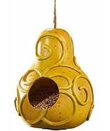 Giftcraft Yellow Pear Polystone Bird Feeder - £7.73 GBP
