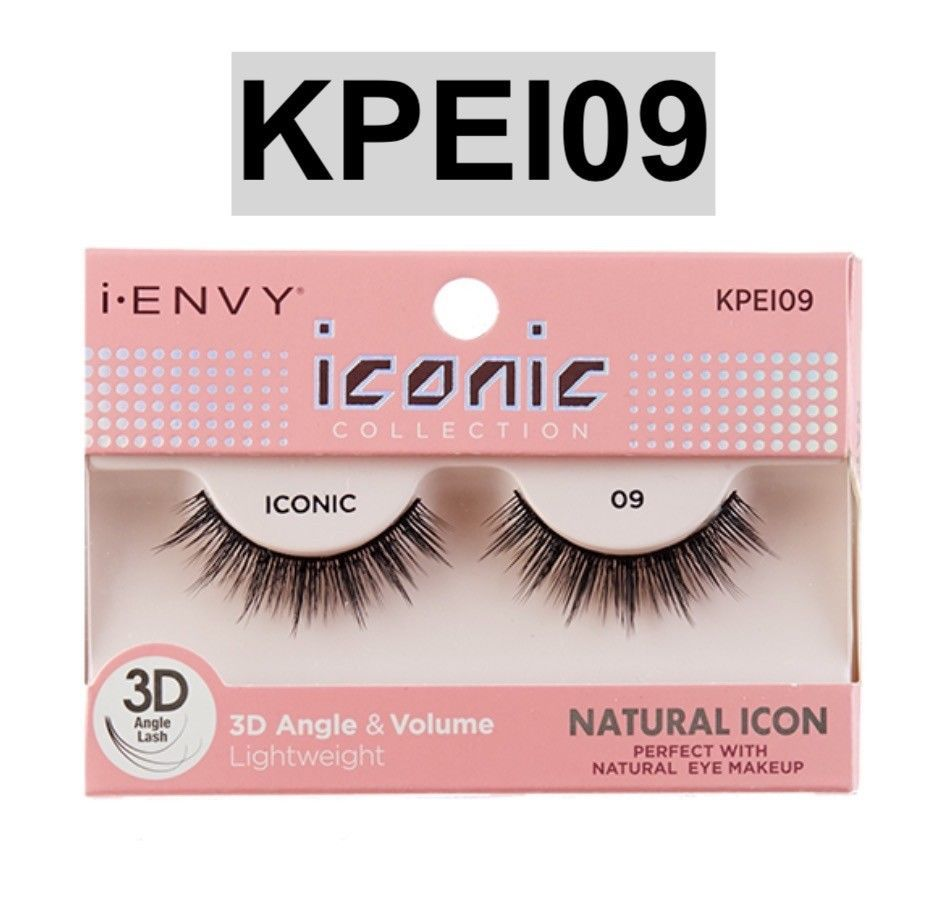 eed7fc34412 S l1600. S l1600. Previous. I ENVY BY ICONIC COLLECTION 3D ANGLE & VOLUME  EYELASHES # KPEI09 NATURAL ICON