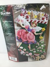 Bucilla Sugar Plum Fairy Christmas Stocking Felt Applique Kit, 85431 18-Inch  - $39.37