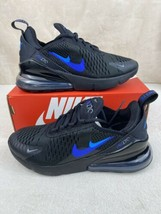"""New GS Nike Air Max 270 """"Just Do It"""" Black Royal Size 4.5Y / 6W CT6016-001 - $128.65"""