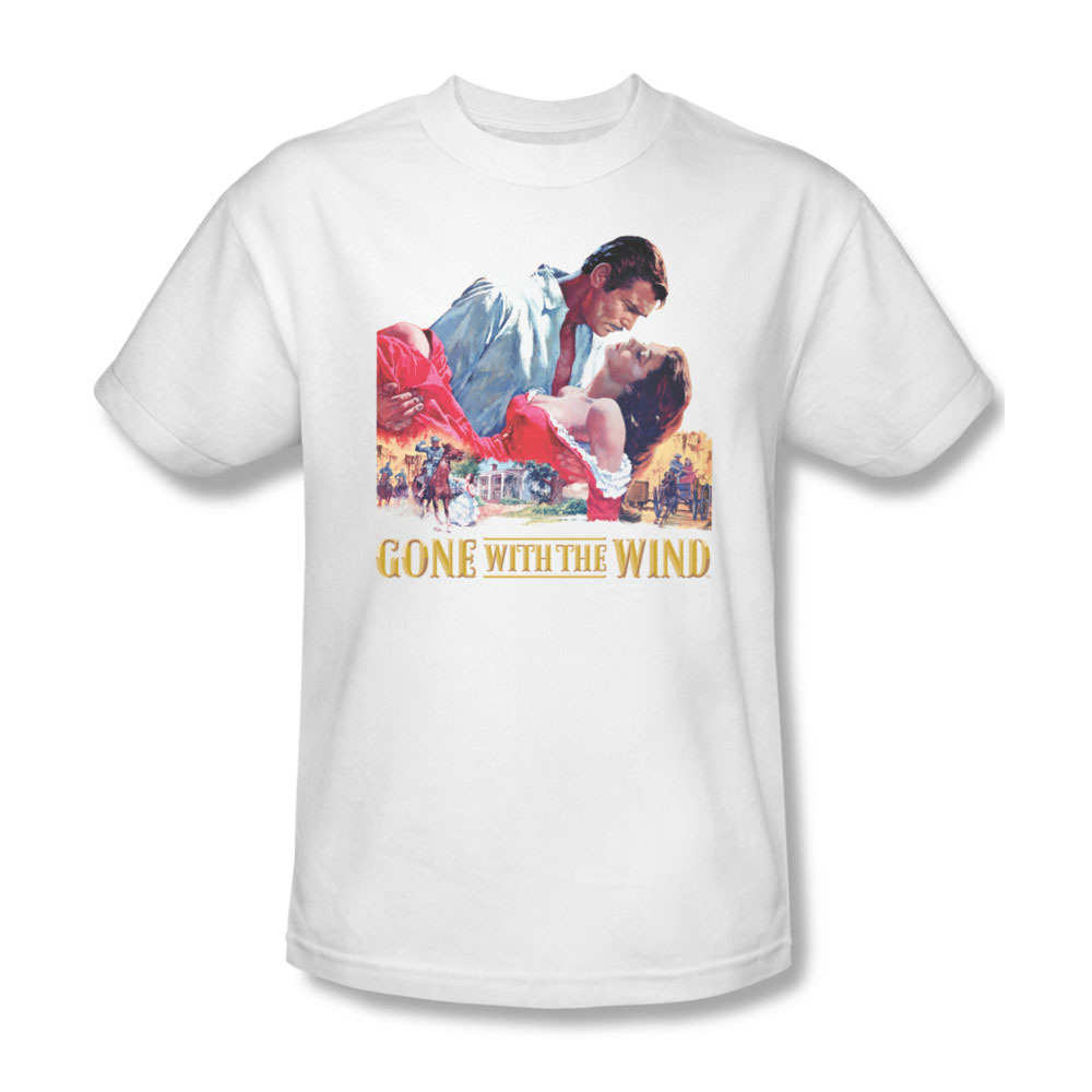 Gone With the Wind Romance Scarlett O'hara Clark Gable Graphic T'shirt  WBM121