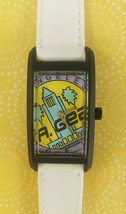 Vintage L.A. Gear Quarts watch Black Case with White Band - $79.95