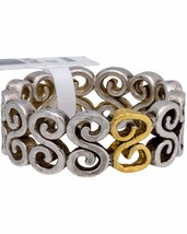 ¦Authentic GURHAN Silver Yellow Gold Vortex Eternity Ring Size 6.5 »$ 250 - $121.08