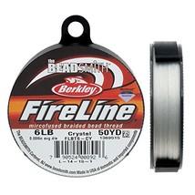 """Fireline XCR-1278 Crystal Braided Beading Thread, .006""""/50 yd - $14.15"""