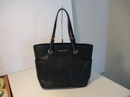 Authentic Michael Kors Jet Set Item EW Pocket Tote Black Leather New W/T... - $168.29