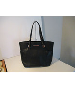 Authentic Michael Kors Jet Set Item EW Pocket Tote Black Leather New W/T... - $168.29