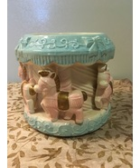 Vintage RUBENS ORIGINALS Pony Carousel Music Box Planter Nursery Decor - $14.00