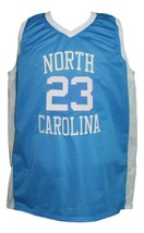 Michael Jordan #23 College Basketball Jersey Sewn Blue Any Size image 4
