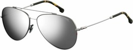 Carrera Aviator Sunglasses Ca 183/F/S 6LB/T4 RUTHENIUM/SILVER Mirror Asian Fit - $261.36