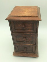 Vintage Old Drawer Box Handcrafted Wooden Chest 3 Drawer Jewelry Box - $99.00