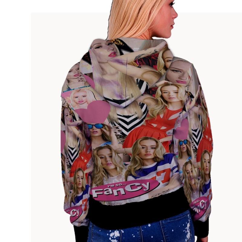 Iggy Azalea Music Collage WOMENS HOODIE