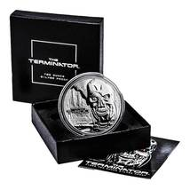 Terminator T-800 2 Oz .999 Silver Proof Round With COA & Individually Numbered image 7