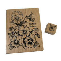 Lot of 2 PSX Rubber Stamps Flowers Pansy K-774 and A-091 Made in USA Floral - $19.99