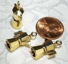 COFFEE POT 3D CAST FINE PEWTER PENDANT CHARM ANTIQUE GOLD CS214AG image 3