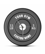"""Barbell Dumbbell """"Custom Name"""" Wall Clock Weightlifting Bodybuilding Gym... - $41.62+"""