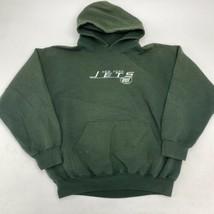NFL New York Jets Hoodie Men's Large Long Sleeve Green Polycotton Blend - $18.95