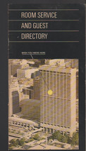 Four Seasons Sheraton Toronto Canada Room Service Guest Directory 1970s - $10.74