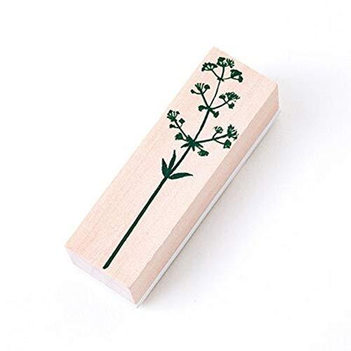 VintagePlants Wooden Stamps Rubber Standard for Spiral Paper Bullet Journals Pop