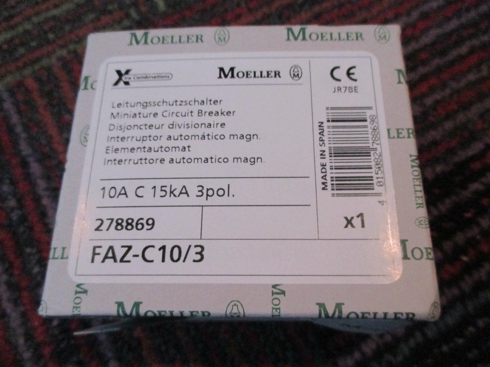 New Moeller Mini Circuit Breaker Faz C10 3 And Similar Items Miniature Breakers 10a 3pol Nib Ready To Go