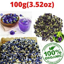 Dried butterfly pea flower(100g-3.52oz) Clitoria ternatea Herbal Drinks - $15.99