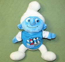 "15"" Build A Bear Smurfs BLUE CREW 2011 Peyo Plush Stuffed Blue White Dol... - $16.83"