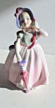 Royal Doulton Figurine BABIE porcelain with  Red Umbrella Made in England LadyWe - $18.99