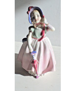 Royal Doulton Figurine BABIE porcelain with  Red Umbrella Made in Englan... - $18.99
